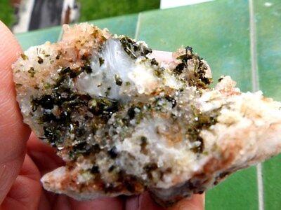 """Minerales"""" Extraordinarios Cristales Arracimados De Epidota De Marruecos-12B17 """" 5"""