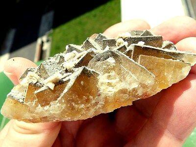 "Minerales "" Fantasticos Cristales Cubicos De Fluorita De Mina Moscona -  8A16 "" 3"