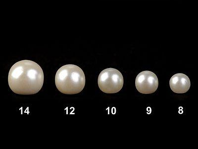 10 Knöpfe Perlenknöpfe Perlmutt Brautkleid Hochzeit usw verschiedene Größen 2