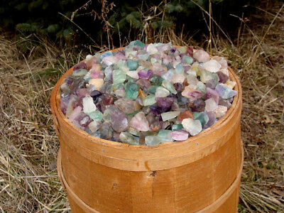 500 Carat Lots of Unsearched Natural Fluorite Rough + a FREE faceted gemstone 5