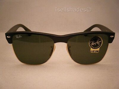 7580fa9796 ... sunglasses and usa 3 of 7 ray ban oversize clubmaster matte black w  green crystal g 15 lens discount ray ban squared clubmaster rb4190 ...