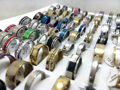 20 x wholesale joblot of women mens assorted rings jewellery DIFFERENT SIZES 2