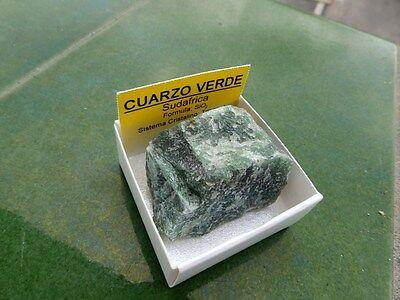 """Minerales """" Fabuloso Cristal De Quarzo Verde De Sudafrica  -  7B17 """" 2"""