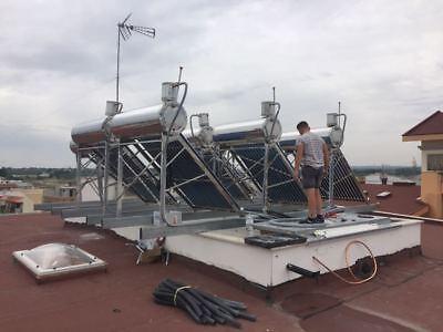 PANNELLO SOLARE TERMICO ACQUA CALDA ACCIAIO INOX 200 LT 20 TUBI tetto inclinato 5