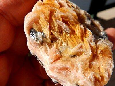 """Minerales """" Bonitos Cristales De Barita+Galena+Cerusita De Marruecos  -  6F16 """" 5"""