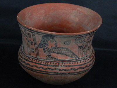 Ancient Large Size Teracotta Painted Jug Roman 100BC #PT675 5