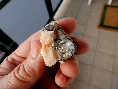 """Minerales """" Bonitos Cristales De Barita+Cerusita+Galena De Marruecos  -  2B18 """" 7"""