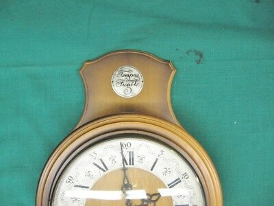 Rare Vintage Tempus Fugit HAID Wall Clock Franz Hermle Movement Made In Germany 2