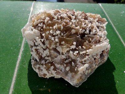 "Minerales "" Bonitos Cristales Fluorescentes De Fluorita Mina Moscona - 10B17 "" 9"