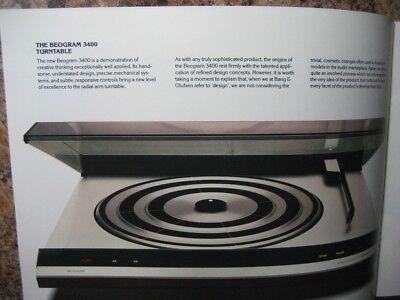 B&O Turntables Original Brochure 4004, 3400, 2402 2