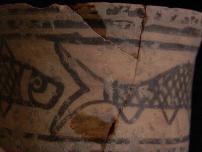 Ancient Large Size Teracotta Painted Pot With Fishes Indus Valley 2500 BC #CCH3 8