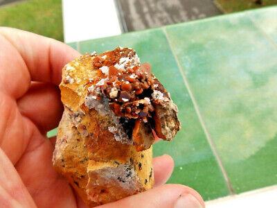 """Minerales"""" Fantasticos Cristales Biterminados De Vanadinita Marruecos-10B18 """" 3"""