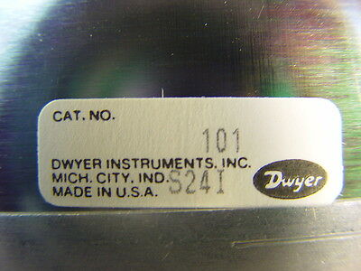 Dwyer 101 Manometer Plastic Portable