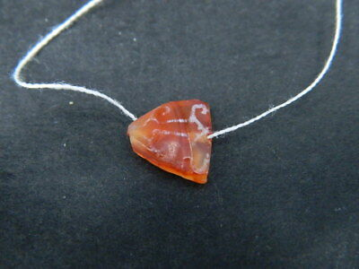Ancient Etch Carnelian Bead Roman 200 BC No Reserve #BE5058 4