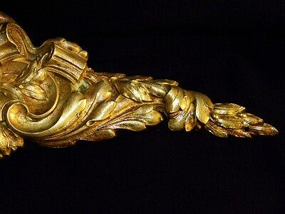 Superb Antique French Large Bronze Pediment Scroll 19 Th.c Napoleon III Louis XV 7