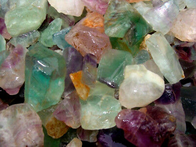500 Carat Lots of Unsearched Natural Fluorite Rough + a FREE faceted gemstone 2