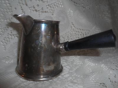 Antique Sheffield EPC SilverPlate w/Wood Handle Brandy Warmer Butter/Sauce Pan 2