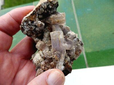 "Minerales "" Fabulosos Cristales Fluorescentes De Tarnowitzita Marruecos- 3B19 "" 7"