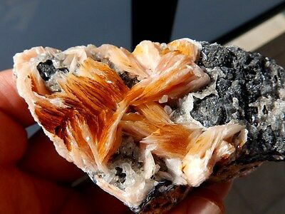 """Minerales """" Bonitos Cristales De Barita+Galena+Cerusita De Marruecos  -  6A16 """" 4"""