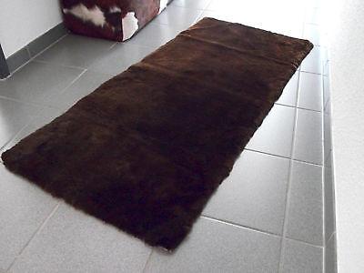 Lammfell Schaffell Überwurf Auflage Sessel Couchauflage Sofa mokka dunkelbraun