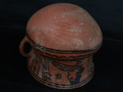 Ancient Large Size Teracotta Painted Jug Roman 100BC #PT675 9