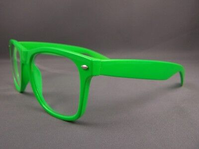 5a5edaa362f ... Green frame Clear lens risky business retro 80s style sunglasses  glasses nerd