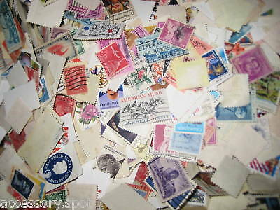 Used off Paper 1000 US Stamps From a huge hoard box collection!!!!! 5