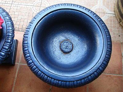 Jardineras De Hierro Fundido Antiguas Restauradas En Color Azul / Antique Fused 7