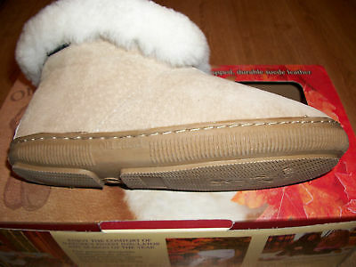 Details about  /OLD FRIEND WOMEN/'S BOOTIE SLIPPER SIZES 6 TO 11 BROWN WITH ROLL UP COLLAR