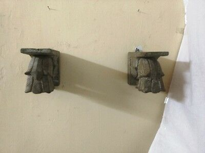 Antique Corbel Pair Wall Hanging Wooden Bracket Vintage corbel Home Decor Rare 4