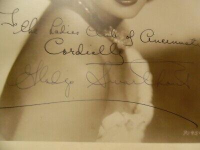 1939 GLADYS SWARTHOUT Signed Inscribed Photo Opera Soprano Movie Actress Vintage 4