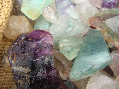 500 Carat Lots of Unsearched Natural Fluorite Rough + a FREE faceted gemstone 7