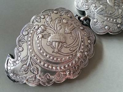 150 Years Old ANTIQUE OTTOMAN SILVER belt buckle WITH SULTAN ABDUL AZIZ TUGRA 4