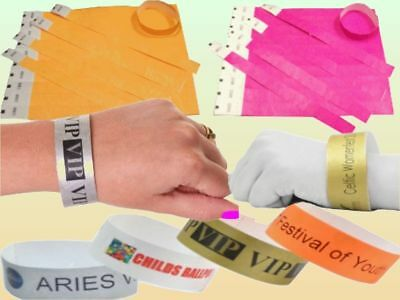 """Wristbands Tyvek 3/4"""" Security Event Paper Like Plain or Custom Printed id bands 3"""