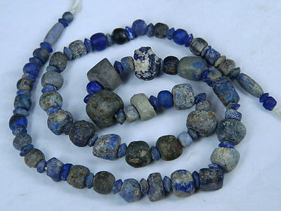 Ancient Lapis Lazuli Beads Strand Roman 200 BC No Reserve #BE2418 6