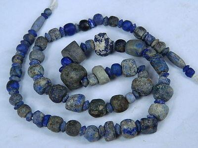 Ancient Lapis Lazuli Beads Strand Roman 200 BC   #BE2418 6
