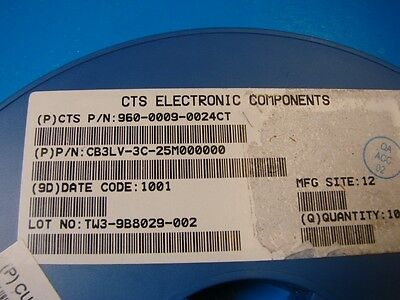 Qty.10 5x7mm RoHS FMI 3.3V CMOS Oscillator 30MHz FMOC3S50AT-30.00000M