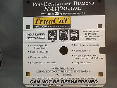 FIBRE CEMENT Diamond SAW BLADE - Cuts Hardie Prods-185mm 2