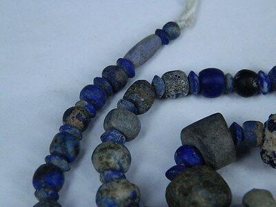 Ancient Lapis Lazuli Beads Strand Roman 200 BC   #BE2418 4