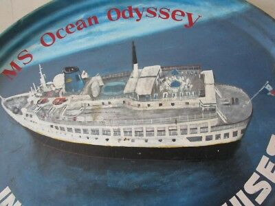 Vintage MS OCEAN ODYSSEY Plate / Plaque - 100% ORIGINAL - Made in USA (2188) 6