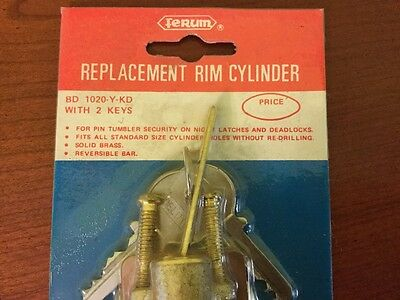 "Deluxe Replacement Rim Cylinder ""made in Hong Kong"" (Free Shipping) 3"