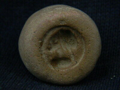 Ancient Teracotta Seal/Stamp Bactrian 300 BC #TR7659 2