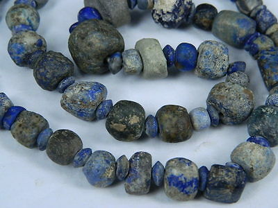 Ancient Lapis Lazuli Beads Strand Roman 200 BC No Reserve #BE2418 3