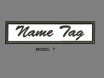 """Custom Embroidered 4"""" x 1"""" Name Tag Patch Motorcycle Biker Iron on/sew on Script 7"""