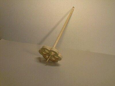 Nur 22g Handspindel Blüte Spindel D8x L30cm  zum spinnen von Wolle Hand Spindel 2
