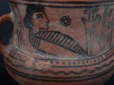Ancient Large Size Teracotta Painted Jug Roman 100BC #PT675 3