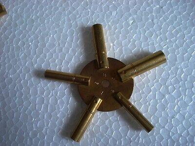 Universal Brass Clock/Watch Key Set, Odd & Even Sizes 5
