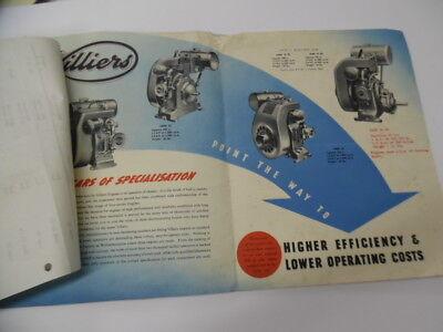 c.1949 VILLIERS Air-Cooled Engine Catalog Brochure Mark 10 20 25 British Vintage 2