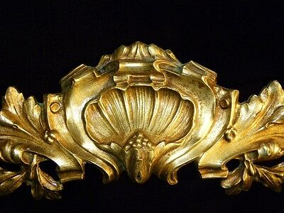 Superb Antique French Large Bronze Pediment Scroll 19 Th.c Napoleon III 6 • CAD $308.70