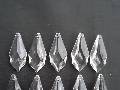 10 pretty large glass spear chandelier drops (D8686) 7